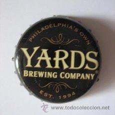 Coleccionismo de cervezas: TAPÓN CHAPA DE LA CERVEZA NORTEAMERICANA YARDS - CERVEZA LOCAL, DE FILADELFIA. Lote 42058819