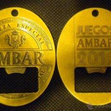 Coleccionismo de cervezas: ABREBOTELLAS ABRIDOR CERVEZA BIRRA BEER AMBAR 2012. Lote 183757001