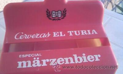ANTIGUO SERVILLETERO DE CERVEZA EL TURIA ESPECIAL MARZENBIER. (Coleccionismo - Botellas y Bebidas - Cerveza )