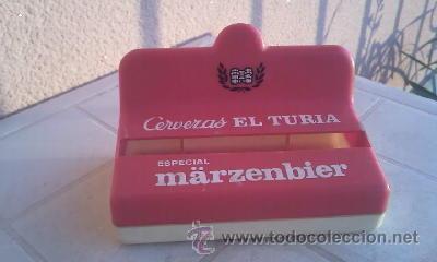 Coleccionismo de cervezas: Antiguo servilletero de cerveza EL turia ESPECIAL MARZENBIER. - Foto 3 - 42509757