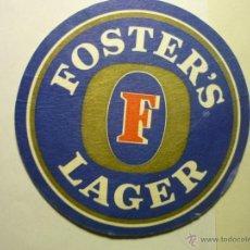 Coleccionismo de cervezas: POSAVASOS CARTON DURO FOSTER´S LAGER. Lote 42763490