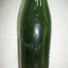 Coleccionismo de cervezas: CERVEZA EL MEDITERRANEO. MALAGA. EXCEPCIONAL BOTELLA. MUY RARA. BOTELLA DE UN 1/3.. Lote 42921844