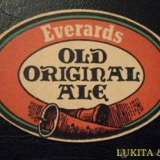 Coleccionismo de cervezas: POSAVASO CERVEZA EVERARDS - POSAVASOS.. Lote 43221653