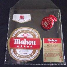 Coleccionismo de cervezas: CERVEZA-V9B-ETIQUETAS- CHAPA-NUEVO-ABREFACIL. Lote 43364723