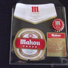Coleccionismo de cervezas: CERVEZA-V9B-ETIQUETAS Y CHAPA-NUEVO. Lote 43364734
