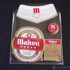 Coleccionismo de cervezas: CERVEZA-V9B-ETIQUETAS Y CHAPA-NUEVO. Lote 43364742
