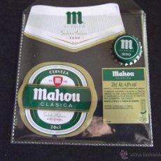 Coleccionismo de cervezas: CERVEZA-V9B-ETIQUETAS Y CHAPA-NUEVO. Lote 43364779