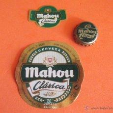 Coleccionismo de cervezas: CERVEZA-V9B-ETIQUETAS Y CHAPA. Lote 43507818