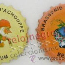 Coleccionismo de cervezas: CHAPAS DE CERVEZA BELGA BRASSERIE D'ACHOUFFE - BÉLGICA DIBUJO DUENDE O GNOMO - CHAPA. Lote 43513554