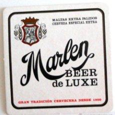 Coleccionismo de cervezas: POSAVASO COASTER CERVEZA MARLEN LA ZARAGOZANA AMBAR. CERVEZA ESPECIAL EXTRA.. Lote 43854227