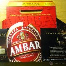 Coleccionismo de cervezas: CAJA BOX CERVEZA BEER AMBAR ENRIQUE BUNBURY PALOSANTO EDICION ESPECIAL. Lote 44292540