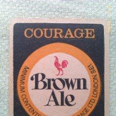 Colecionismo de cervejas: POSAVASOS CERVEZA BROWN ALE. LONDRES. INGLATERRA. AÑOS ´80. Lote 44311314