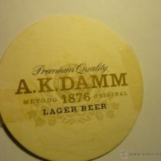 Coleccionismo de cervezas: POSAVASOS CARTON DURO A.K. DAMM -JR. Lote 44426322