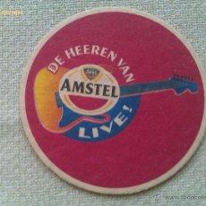 Colecionismo de cervejas: POSAVASOS CERVEZA AMSTEL LIVE. SBS. AMSTERDAM. HOLANDA. AÑOS ´90. Lote 44906348