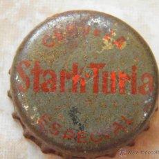Coleccionismo de cervezas: ANTIGUA CHAPA CERVEZA STARK TURIA. VALENCIA. CON CORCHO.---LOTE N. 21---. Lote 45105122