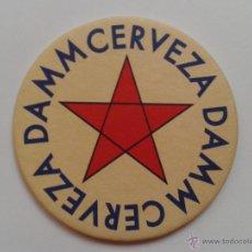 Coleccionismo de cervezas: DAMM POSAVASOS CERVEZA DAMM FABRICA J. DAMM BARCELONA. Lote 47026573