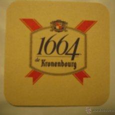 Coleccionismo de cervezas: POSAVASO POSAVASOS CERVEZA FRANCESA 1664 DE KRONENBOURG. Lote 45653975