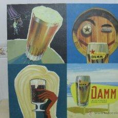 Coleccionismo de cervezas: CUADRO DE CERVEZA DAMM. Lote 45675299