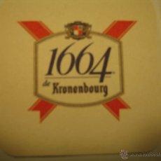 Coleccionismo de cervezas: POSAVASOS POSAVASO CERVEZA FRANCESA 1664 DE KRONENBOURG. Lote 45696798