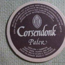 Colecionismo de cervejas: POSAVASOS CERVEZA CORSENDONK. BÉLGICA. AÑOS ´90. Lote 45855329