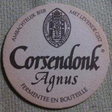 Colecionismo de cervejas: POSAVASOS CERVEZA CORSENDONK. BÉLGICA. AÑOS ´90. Lote 45855378