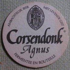 Colecionismo de cervejas: POSAVASOS CERVEZA CORSENDONK. BÉLGICA. AÑOS ´90. Lote 45855475