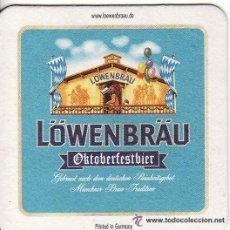 Coleccionismo de cervezas: ** FG44 - POSAVASOS CERVEZA LOWENBRAU - CARTON DURO - RF. 00. Lote 45917964