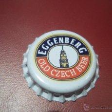Coleccionismo de cervezas: ANTIGUA CHAPA CERVEZA EXTRANJERA NUEVA SIN USAR EGGENBERG . Lote 45972085