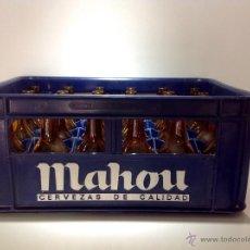 Coleccionismo de cervezas: CAJA DE CERVEZA MAHOU COMPLETA CON 24 TERCIOS SERIGRAFIADOS. Lote 45990923