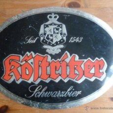 Coleccionismo de cervezas: CHAPA METALICA PUBLICIDAD ORIGINAL. CERVEZA KOSTRIKER. 40C30. Lote 46064315
