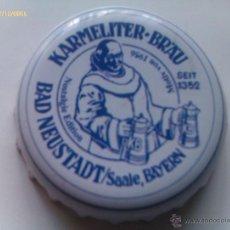 Collectionnisme de bières: CHAPA KRONKORKEN CAPS TAPPI CERVEZA KARMELITER BRAU. BAD NEUSTADT. SAALE. BAYERN. ALEMANIA. Lote 122934776