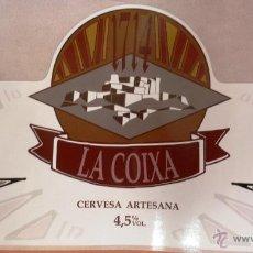 Coleccionismo de cervezas: ETIQUETA SIN USAR DE CERVEZA 1714 LA COIXA. CERVEZA ARTESANA ARTICULO NUEVO. SIN USAR. Lote 142795538