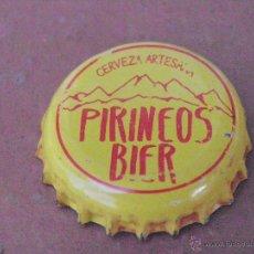 Coleccionismo de cervezas: TAPÓN CORONA CHAPA CERVEZA ARTESANA PIRINEOS BIER (2) . HUESCA.----LOTE N. 2289---CARMANJO. Lote 46630812