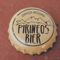 Coleccionismo de cervezas: TAPÓN CORONA CHAPA CERVEZA ARTESANA PIRINEOS BIER (4) . HUESCA.----LOTE N. 2291---CARMANJO. Lote 46630856