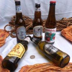 Coleccionismo de cervezas: VIEJAS BOTELLAS CERVEZA VARIADAS DEL MUNDO (LOTE DE 5 BOTELLAS DE COLECCIÓN):. Lote 46633929