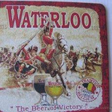 Coleccionismo de cervezas: POSAVASO/POSAVASOS CERVEZA BÉLGICA. WATERLOO. Lote 46939831