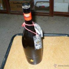 Coleccionismo de cervezas: BOTELLA DE CERVEZA,ESTRELLA INEDIT , 75 CL, LLENA CON CHAPA O TAPON CORONA,CADUCADA 2012.. Lote 76507354