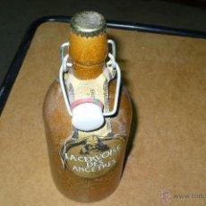 Coleccionismo de cervezas: BOTELLA CERAMICA DE ENGEL BRAUEREI, LA CERVOISE DES ANCÊTRES, LLENA ,50 CL,VER FOTOS ADICIONALES.. Lote 47712289