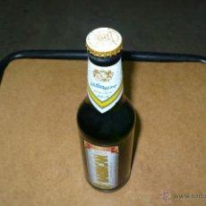 Coleccionismo de cervezas: BOTELLA, DE MALTA,CERVEZA SIN ALCOHOL, BARBICAN,CADUCADA, LLENA 33 CL, CON CHAPA TAPON CORONA,. Lote 47730026