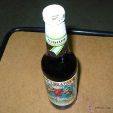 Coleccionismo de cervezas: BOTELLA,DE CERVEZA, CADUCADA, CELEBRATOR, LLENA 33 CL, CHAPA TAPON CORONA,. Lote 47737274