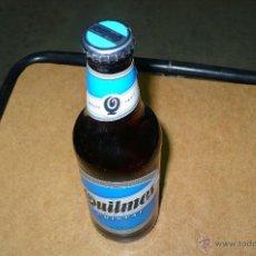 Coleccionismo de cervezas: BOTELLA,DE CERVEZA,QUILMES SABOR CRISTAL , LLENA 33 CL, CHAPA TAPON CORONA, VER FOTOS ADICIONALES.. Lote 47737416