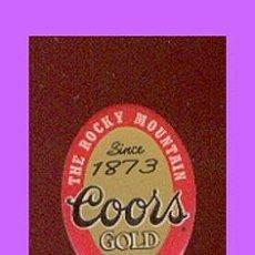 Coleccionismo de cervezas: PIN CERVEZA * COORS GOLD * - THE ROCKY MOUNTAIN.. Lote 24230568