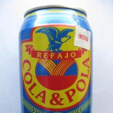 Coleccionismo de cervezas: COLA & POLA. REFAJO. COLOMBIA. AÑO 1998. (LATA / BOTE DE CERVEZA CON LIMÓN O ASÍ. LLENA SIN ABRIR).. Lote 48350034