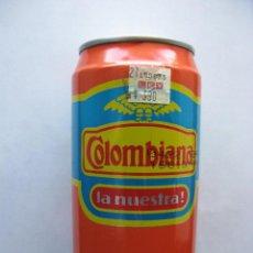 Coleccionismo de cervezas: COLOMBIANA. LA NUESTRA!. COLOMBIA. AÑO 1998. (LATA / BOTE DE GASEOSA LLENA/O, SIN ABRIR).. Lote 48353723