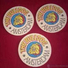 Coleccionismo de cervezas: 3 POSAVASOS THE BULLDOG AMSTERDAM. Lote 49030052