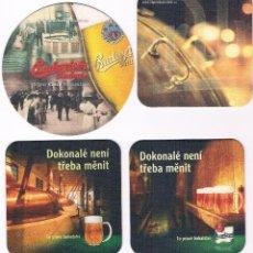 Coleccionismo de cervezas: LOTE POSAVASOS REPÚBLICA POPULAR CHECA CERVEZA. Lote 49183345