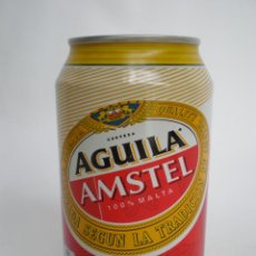 Coleccionismo de cervezas: BOTE-LATA CERVEZA *AGUILA AMSTEL* 33 CL. LLENA SIN DESTAPAR, CONSUMIR ANTES DE 2002. Lote 49573101