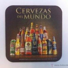 Coleccionismo de cervezas: POSAVASOS CERVEZA. CERVEZAS DEL MUNDO. HEINEKEN ESPAÑA. SIN USO. Lote 64899646