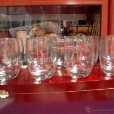 Coleccionismo de cervezas: CERVEZA EL TURIA LOTE 10 VASOS ANTIGUOS. Lote 49599637