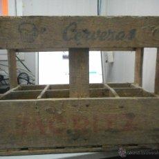 Coleccionismo de cervezas: ANTIGUA CAJA CERVEZA MORITZ. Lote 49895709